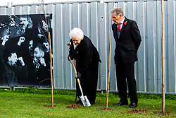 Marina Dolman in action Representatives of Bristol City take part in a ceremony to plant tree's in memory of the 7 Bristol City player's who lost their lives serving during WW1 - Rogan/JMP - 09/11/2018 - FOOTBALL - Failand Training Ground - Bristol, England.
