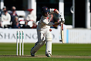 Alex Davies of Lancashire batting during the Specsavers County Champ Div 1 match between Somerset County Cricket Club and Lancashire County Cricket Club at the Cooper Associates County Ground, Taunton, United Kingdom on 13 September 2017. Photo by Graham Hunt.