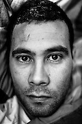 23 refugees seeking asylum in Belgium stopped eating on the 14th of January. They found shelter in the VUB. Free University of Belgium. Day 41. In this picture Dechraoui, age 33 came from Algeria in 2004. Belgium, Brussels, 12 February 2012