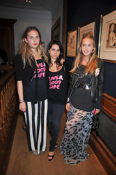 Left to right, ESME HODSOLL, ASSISI JACKSON and MARY CHARTERIS at fundraising dinner and auction in aid of Liver Good Life a charity for people with Hepatitis held at Christies, King Street, London on 16th September 2009.