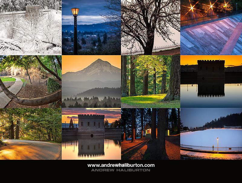 Mount Tabor Park 2020 Calendar Back Cover, Portland, Oregon