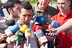 01.06.2012, Ciudad del Futbol, Madrid, ESP, UEFA EURO, Trainingscamp, Spanien, Rueckreise nach dem Trainingslager in Schruns im Vorarlberger Montafon, im Bild Santi Cazorla. // during Arrival of Spanish National Footballteam // after UEFA EURO 2012 preparation camp in Schruns, Austria at Ciudad del Futbol, Madrid, Spain on 2012/06/01. EXPA Pictures © 2012, PhotoCredit: EXPA/ Alterphotos/ Marta Gonzalez..***** ATTENTION - OUT OF ESP and SUI *****