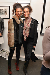 Left to right, ISABELLA CALLIVA and her mother JEANETTE CALLIVA at a private view of photographs 'Terry O'Neill-The Best Of' held at The Little Black Gallery, 13A Park Walk, London on 16th January 2014.