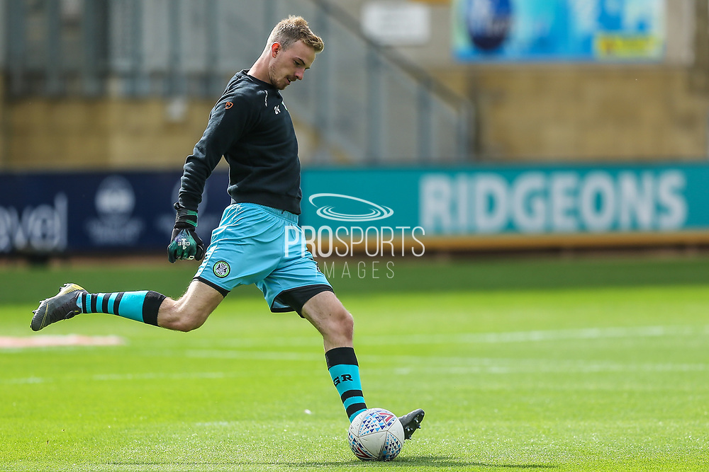 Forest Green Rovers goalkeeper Lewis Thomas(24) warming up during the EFL Sky Bet League 2 match between Cambridge United and Forest Green Rovers at the Cambs Glass Stadium, Cambridge, England on 7 September 2019.