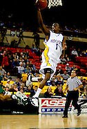 11/23/2006 - Anchorage, Alaska: Senior guard Loren Stokes (1) of the Hofstra Pride goes for a easy two as Hawaii defeats Hofstra 80-79 at the 2006 Great Alaska Shootout on Thanksgiving night<br />