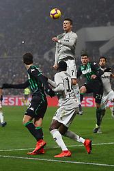 """Foto Filippo Rubin<br /> 10/02/2019 Reggio Emilia (Italia)<br /> Sport Calcio<br /> Sassuolo - Juventus - Campionato di calcio Serie A 2018/2019 - Stadio """"Mapei Stadium""""<br /> Nella foto: CRISTIANO RONALDO (JUVENTUS)<br /> <br /> Photo Filippo Rubin<br /> February 10, 2019 Reggio Emilia (Italy)<br /> Sport Soccer<br /> Sassuolo vs Juventus - Italian Football Championship League A 2018/2019 - """"Mapei Stadium"""" Stadium <br /> In the pic: CRISTIANO RONALDO (JUVENTUS)"""