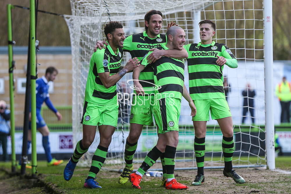 Forest Green Rovers Liam Noble(15) and celebrates, 2-0 during the Vanarama National League match between Forest Green Rovers and Macclesfield Town at the New Lawn, Forest Green, United Kingdom on 4 March 2017. Photo by Shane Healey.