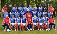 Fotball<br /> Frankrike<br /> Foto: Dppi/Digitalsport<br /> NORWAY ONLY<br /> <br /> Lagbilde Frankrike<br /> FOOTBALL - FRANCE TEAM PRESENTATION - 04/09/2009 - TEAM FRANCE ( 1ST ROW LEFT TO RIGHT : ALAIN BOGHOSSIAN (ASSISTANT COACH) / KARIM BENZEMA / JIMMY BRIAND / SEBASTIEN SQUILLACI / PIERRE MANKOSKI (ASSISTANT COACH) / SAMIR NASRI / BAKARI SAGNA / YOANN GOURCUFF / ROBERT DUVERNE (PHYSIOTERAPIST) . 2ND ROW : MATHIEU FLAMINI / SIDNEY GOVOU / FLORENT MALOUDA / WILLIAM GALLAS / RAYMOND DOMENECH (COACH) / THIERRY HENRY / LASSANA DIARRA / GAEL CLICHY / PATRICE EVRA . 3RD ROW : FABRICE GRANGE (GOAKEEPER ASSISTANT COACH) / HUGO LLORIS / NICOLAS ANELKA / ROD FANNI / LASSANA DIARRA / JEREMY TOULALAN / PHILIPPE MEXES / ERIC ABIDAL / STEVE MANDANDA / BRUNO MARTINI (GOALKEEPER COACH) )