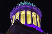 Hibernia Bank building tower at night