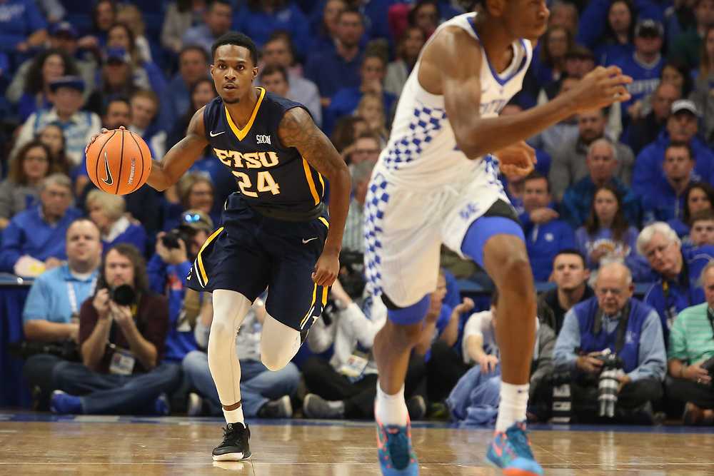 November 17, 2017 - Lexington, Kentucky - Rupp Arena: ETSU guard Jermaine Long (24)<br /> <br /> Image Credit: Dakota Hamilton/ETSU