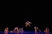 Santa Clara University's Department of Theatre & Dance performs during the Choreographer's Gallery dress rehearsal at Louis B. Mayer Theatre at Santa Clara University in Santa Clara, California, on November 29, 2016. (Stan Olszewski/SOSKIphoto)