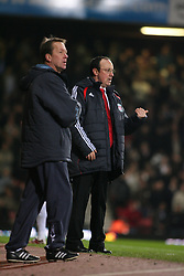 London, England - Tuesday, January 30, 2007: Liverpool's manager Rafael Benitez and West Ham United's Alan Curbishley during the Premiership match at Upton Park. (Pic by Chris Ratcliffe/Propaganda)