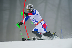 Cedric AMAFROI-BROISAT competing in the Alpine Skiing Super Combined Slalom at the 2014 Sochi Winter Paralympic Games, Russia