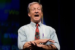 Democratic Presidential hopeful businessman Tom Steyer speaks at the Philadelphia Council AFL-CIO Workers' Presidential Summit, at the Pennsylvania Convention Center in Philadelphia, PA, on September 17, 2019.