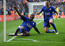 Wes Morgan of Leicester City celebrates. - Mandatory by-line: Alex James/JMP - 03/04/2016 - FOOTBALL - King Power Stadium - Leicester, England - Leicester City v Southampton - Barclays Premier League