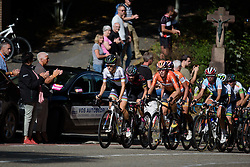 Lizzie Armitstead and Ellen van Dijk (Boels Dolmans) on the Cauberg at the 119 km Stage 6 of the Boels Ladies Tour 2016 on 4th September 2016 from Bunde to Valkenburg, Netherlands. (Photo by Sean Robinson/Velofocus).