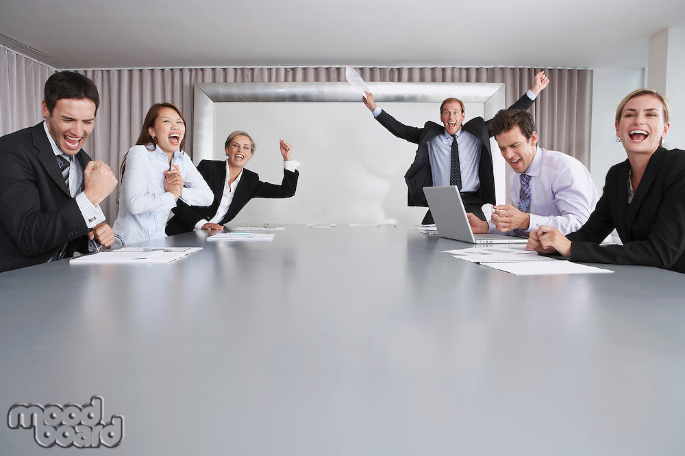 Businesspeople Celebrating Good News
