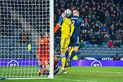Steven Naismith (#9) of Scotland scores a goal to make the score 2-1 to Scotland during the UEFA European 2020 Group I qualifier match between Scotland and Kazakhstan at Hampden Park, Glasgow, United Kingdom on 19 November 2019.