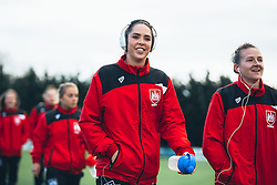 Bristol City Women arrive at the ground - Rogan Thomson/JMP - 06/11/2016 - FOOTBALL - The Northcourt Stadium - Abingdon-on-Thames, England - Oxford United Women v Bristol City Women - FA Women's Super League 2.