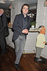 Actor TOM BURKE at Shepherd's Delight an evening of Dinner & Entertainment in aid of The National Youth Theatre of Great Britain held at Shepherd's, Marsham Street, London on3rd December 2012.