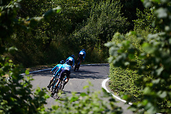 Movistar Women's Team at Stage 1 of 2019 Giro Rosa Iccrea, an 18 km team time trial from Cassano Spinola to Castellania, Italy on July 5, 2019. Photo by Sean Robinson/velofocus.com