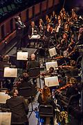 Atsushi Yamada conducting the Philhasmonia Orchestra of New York in Verdi'a La Traviata at the Rose Theater at Jazz at Lincoln Center.