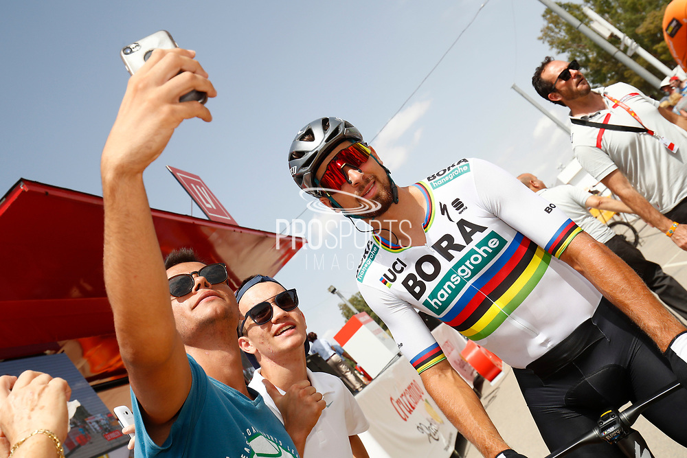 Peter Sagan (SVK - Bora - Hansgrohe) fans, during the UCI World Tour, Tour of Spain (Vuelta) 2018, Stage 6, Huercal Overa - San Javier Mar Menor 155,7 km in Spain, on August 30th, 2018 - Photo Luca Bettini / BettiniPhoto / ProSportsImages / DPPI