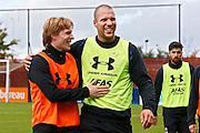 ALKMAAR - 20-10-2015, training Ron Vlaar, AFAS Stadion, AZ speler Guus Hupperts.