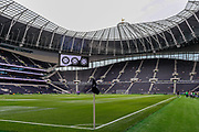 General stadium view, corner flag, inside Tottenham Hotspur Stadium before the Pre-Season Friendly match between Tottenham Hotspur and Inter Milan at Tottenham Hotspur Stadium, London, United Kingdom on 4 August 2019.