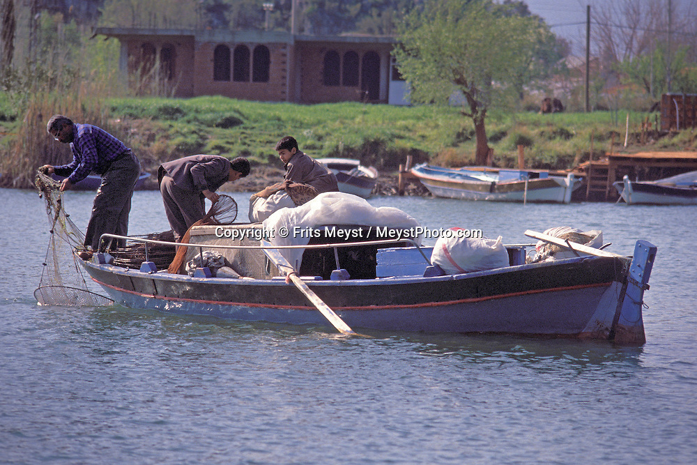 Dalyan, Turkey, 2004. The mountains of around the Koycegiz golu lake off good trekking possibilities. The water of the lake flows through Dalyan and passes rock graves before it ends up in the Mediterranean. Photo by Frits Meyst/Adventure4ever.com