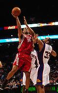 Jan. 6 2010; Phoenix, AZ, USA;  Houston Rockets forward (31)  .  Shane Battier drives to the basket under pressure against Phoenix Suns forward (33) Grant Hill in the first half at the US Airways Center. Mandatory Credit: Jennifer Stewart-US PRESSWIRE