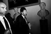 Ignazio Marino durante la prima conferenza stampa dopo le dimissioni per dire che non è indagato. Roma 20 ottobre 2015.  Christian Mantuano / OneShot <br /> <br /> Ignazio Marino during the first press conference after the resignation. Rome 20 October 2015. Christian Mantuano / OneShot