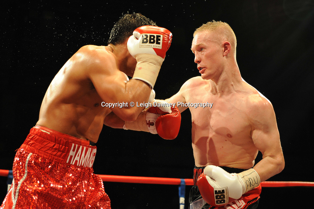 Martin Concepcion defeats Kevin Hammond at Coventry Skydome, Coventry, United Kingdom on 23rd April 2010. Frank Maloney Promotions.Photo credit: © Leigh Dawney