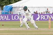 Hassan Azad batting during the Specsavers County Champ Div 2 match between Gloucestershire County Cricket Club and Leicestershire County Cricket Club at the Cheltenham College Ground, Cheltenham, United Kingdom on 18 July 2019.