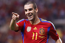 06.09.2011, Logrono, ESP, UEFA EURO 2012, Qualifikation, Spanien vs Lichtenstein, im Bild Spain's Alvaro Negredo celebrates goal during Euro 2012 qualifier match.September 6,2011.. EXPA Pictures © 2011, PhotoCredit: EXPA/ Alterphoto/ Acero +++++ ATTENTION - OUT OF SPAIN/(ESP) +++++