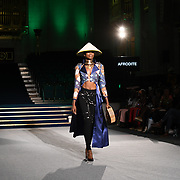Afrodites Showcases it latest collection at the Africa Fashion Week London (AFWL) at Freemasons' Hall on 11 August 2018, London, UK.