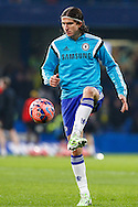 Filipe Luis of Chelsea before the FA Cup match at Stamford Bridge, London<br /> Picture by David Horn/Focus Images Ltd +44 7545 970036<br /> 04/01/2015