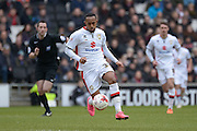 MK Dons forward Rob Hall  during the Sky Bet Championship match between Milton Keynes Dons and Brighton and Hove Albion at stadium:mk, Milton Keynes, England on 19 March 2016. Photo by Dennis Goodwin.