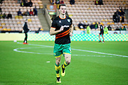 Norwich City defender Christoph Zimmermann (6) warming up before the The FA Cup 3rd round match between Norwich City and Portsmouth at Carrow Road, Norwich, England on 5 January 2019.