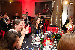 CARDIFF, WALES - Monday, October 6, 2014: Wales' Georgia Evans at the FAW Footballer of the Year Awards 2014 held at the St. David's Hotel. (Pic by David Rawcliffe/Propaganda)