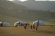 Mongolia. Christophe Gierke and his family. Polo game organizer. Orkhon valley.   Karakorum      Christophe Gierke et sa famille.  a introduit le Jeu de Polo. vallee de l'Orkhon.   Karakorum   Mongolie