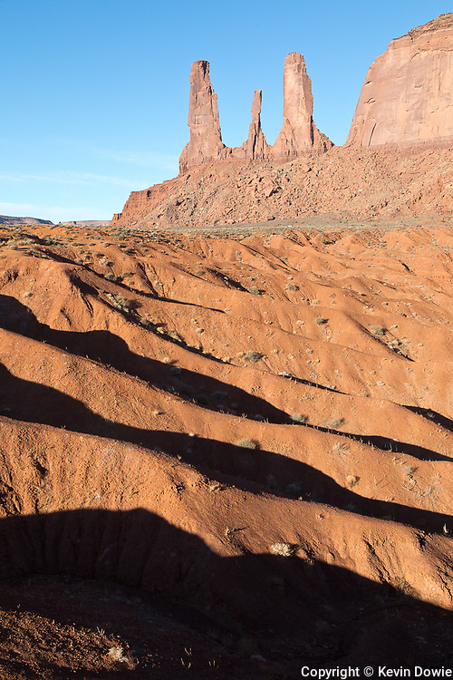Light, shadows and rock formations, Monument Valley