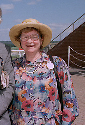 BARONESS JAMES OF HOLLAND PARK, she is writer P D James, at a race meeting in Sussex on 30th July 1997.MAS 50 WORO