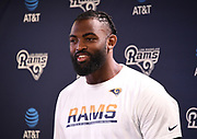 Los Angeles Rams speaks defensive end Michael Brockers speaks at press conference at Cal Lutheran.