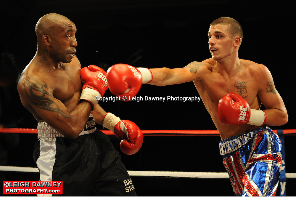 Liam Cameron defeats Dee Mitchell at the Doncaster Dome, Doncaster on 2nd July 2010. Frank Maloney Promotions. Photo credit: © Leigh Dawney