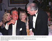 Alana Stewart, George Hamilton, Helen Morris, and Martin Scorsese at theVanity Fair Oscar  night party, Mortons, Los Angeles. 23 March 1988. Film 98169f29<br />Copyright Photograph by Dafydd Jones<br />66 Stockwell Park Rd. London SW9 0DA<br />Tel. 0171 733 0108