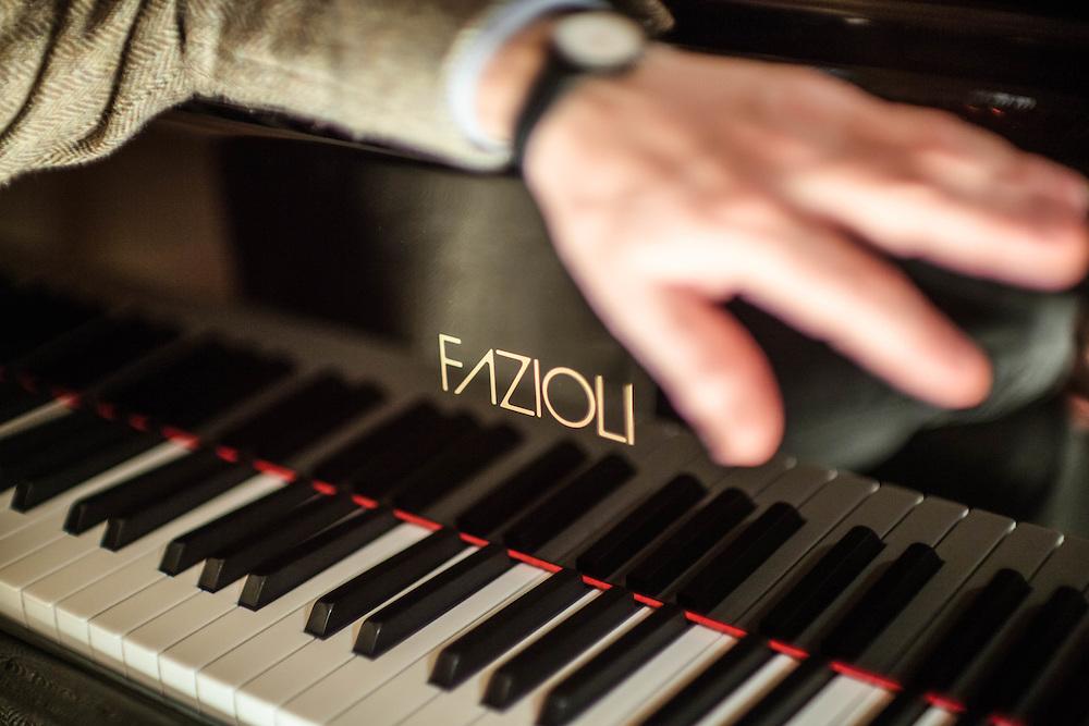 22 FEB 2010 - Sacile (Pordenone) - L'ing. Paolo Fazioli, produttore di pianoforti, nell'Auditorium della  Fazioli Pianoforti :-: Paolo Fazioli, piano maker.