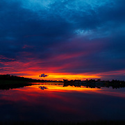 A classic sunset in South Florida.<br /> Photography by Jose More