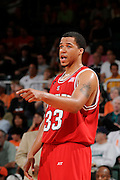 March 7, 2009: Brandon Costner of the North Carolina State Wolfpack in action during the NCAA basketball game between the Miami Hurricanes and the North Carolina State Wolfpack. The 'Canes defeated the Wolfpack 72-64.