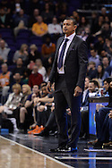 Feb 4, 2016; Phoenix, AZ, USA;  Phoenix Suns head coach Earl Watson watches the game against the Houston Rockets from the sidelines at Talking Stick Resort Arena. Mandatory Credit: Jennifer Stewart-USA TODAY Sports